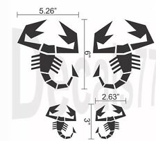 Fiat 500 Abarth Scorpion Mirror Set Decals Stickers Decal - Free Shipping