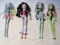 Monster High Doll Lot (4) ~ 4 Dressed Dolls