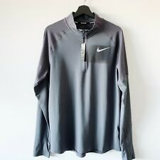 NWT Nike Men's Element 2.0 1/2 Zip Running Top L Grayish Purple