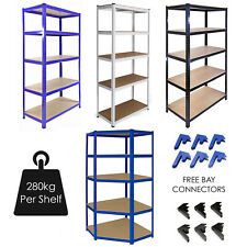 Garage Racking 5 Tier Shelving Unit Boltless Heavy Duty Metal Shelf Shed Storage