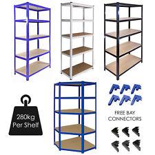 More details for garage racking 5 tier shelving unit boltless heavy duty metal shelf shed storage