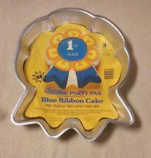 1979 Wilton BLUE RIBBON CAKE PAN w/ Insert Mold Tin 1st Place Award 502-2286 EUC
