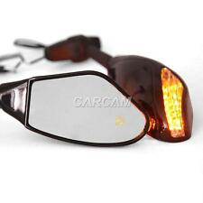 LED Amber Turn Signals Mirrors Fit Honda CBR1100XX CBR 1100 Super Blackbird
