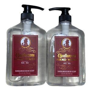 2 Bottles Sandalwood Musk Gentlemens Hand Wash 25.5 fl oz Each