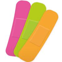 75pc Neon Gepolstert ProPlast Waschung Beweis Pflaster Set Band Erste Aid Steril