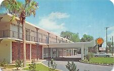 De Land Florida 1968 Postcard Quality Courts Motel & University Inn Restaurant