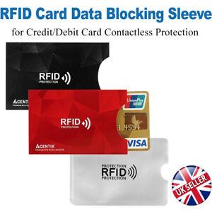 RFID/NFC Data Blocking Card Holder Sleeve Wallet for Credit Debit Protection