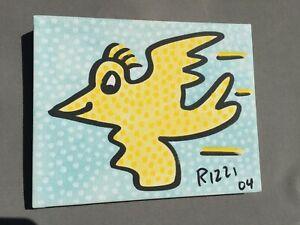 "James RIZZI: Original Unikat auf Leinwand ""RIZZI BIRD"", 2 x handsigniert, 2004"