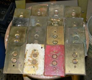 15 Vintage Brass Push Button Light Switch Plate Covers