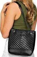 NWT GUESS STARLETT HANDBAG Large Black Logo Crossbody Shoulder Bag Tote GENUINE