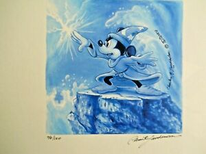 """Disney """"Dreams of Power"""" Mickey Mouse Sorcerer's Apprentice Art and Watch"""