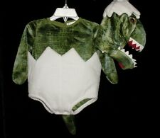 EUC Pottery Barn Kids Baby Green Dinosaur Egg Halloween Costume 0-6 M