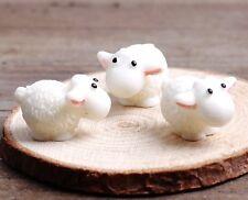 6 pcs Mini Sheep Animal Miniature Fairy Garden Terrarium Supply Dollhouse