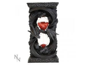 TIME GUARDIAN Sand Egg Timer Clock 18cm Dragon Gothic Nemesis Now Gift FREE P+P