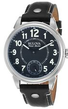 Swiss Made Accu-Swiss by Bulova 63A120 Gemini Mechanical Black Dial Men's Watch