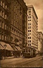 Portland Oregon USA Amerika ~1910 Third Street North from Morrison Cable Car