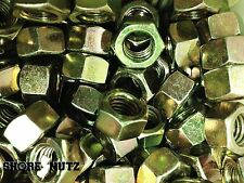 (100) 5/8-11 Grade 8 Hex Finish Nuts - Yellow Zinc - Coarse