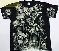 t-shirt !!! SKULLS !!! / SKULL  ALLPRINT - CZACHY koszulka L size