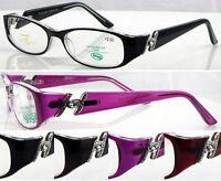 L288 Ladies Fashion Memory Plastic TR90 Reading Glasses/Diamante Detailed Arms