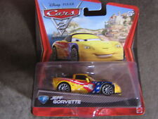 DISNEY CARS 2  JEFF CORVETTE  LONG CARD