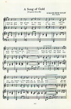"PHI MU Sorority Vintage Song Sheet  c1960 ""A Song of Gold"" - Original"