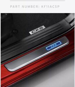 New Genuine Mazda CX-5 Illuminated Scuff Plate Set