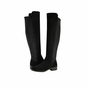 Women's Shoes Clarks PURE CADDY Over the Knee Boots 43540 BLACK SUEDE