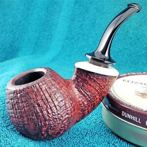 VERY MINT! VLADIMIR GRECHUKHIN 7/8 BENT EGG FREEHAND RUSSIAN Estate Pipe CLEAN!