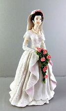 Dolls House Miniature 1:12 Scale Resin People Lady in Wedding Dress Bride 8240