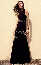 NWOT BCBG MAX AZRIA DOMINIQUE LACE-PANELED GOWN NNH66K12 SIZE 4 $338.00