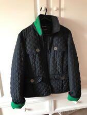 Hobbs Navy Quilted Coat Jacket Size 12