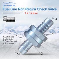 "12mm 1/2"" One Way Non Return Check Valve Fuel Line Petrol Diesel Oil Water"