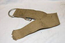 BRITISH ARMY WEBBING 1937 PATT KHAKI HEAVY DUTY STRAP D HOOK WITH ROLL PIN PARA