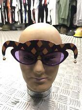 Novelty Mardi Gras x10bundle harlequin Red Sunglasses Hen StagParty Fancy Dress.
