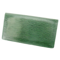Moschino Wallet Purse Long Wallet Green Woman Authentic Used Q269