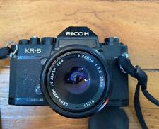 Vintage Ricoh KR-5 SLR FILM- Camera w/ RICONAR Lens 1:2.2 - 55 MM- w/ Strap