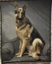 Brand New `GERMAN SHEPHERD-Tom Weigand` DOG WOVEN Tapestry Throw Blanket