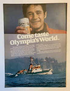 1978 Olympia Beer Can Vintage Print Ad Original Pacific Northwest WA Washington