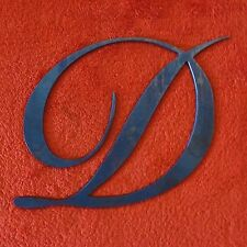 LETTERA D IN FERRO STILE CORSIVO ELEGANTE CANCELLO IRON LETTER GATE DECORATION