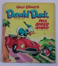 1953 Whitman Tell-A-Tale DONALD DUCK FULL SPEED AHEAD Childrens Storybook