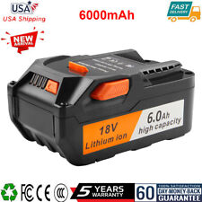 18V 6.0Ah Li-ion Battery Replacement For Ridgid R840089 Ac840085 with Fuel Gauge