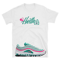 AIR MAX 97 SOUTH BEACH MIAMI WHITE KINETIC GREEN PINK custom JADE Hustle shirt
