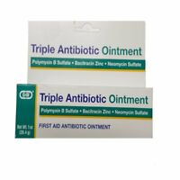 6 Pack G & W Triple Antibiotic Ointment First Aid 1 Oz. Tube, Prevents Infection