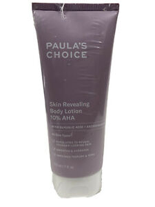 PAULA'S CHOICE SKIN REVEALING BODY LOTION 10% AHA -  7 OZ - SEALED