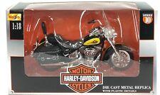 Maisto Harley Davidson 2000 Heritage Softail 1:18 Die Cast Metal Motorcycle NIB