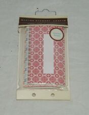 Martha Stewart place tags birthday shower set lot 12 Tented 19288 FLoral