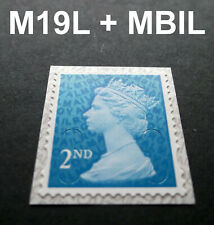 NEW JUNE 2019 2nd Class M19L + MBIL MACHIN SINGLE STAMP from Business Sheets