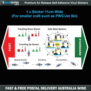 Marine Safety Navigation Guide Sticker PWC Jet Ski lateral marks #M010