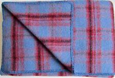 Manta de lana, lana cuadros, colcha, tamaño especial, 135x215cm, 100% virgen