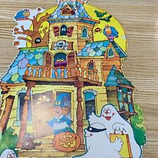 Halloween Haunted House Friendly Witch, ghosts, bats, and more vintage
